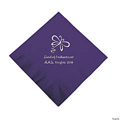 Personalized Purple Enchantment Luncheon Napkins