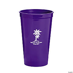 Personalized Purple Luau Tumblers