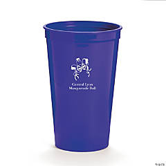 Personalized Purple Masquerade Tumblers