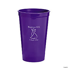 Personalized Purple Prom Couple Tumblers