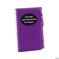Personalized Purple Spiral Notebooks with Pens