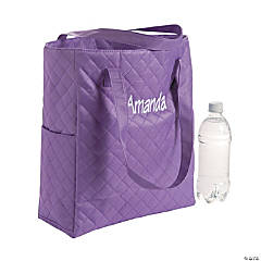 Personalized Quilted Purple Totes