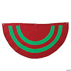 Personalized Red & Green Striped Christmas Bunting