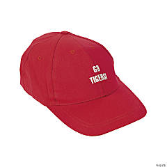 Personalized Red Baseball Caps