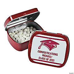 Personalized Red Graduation Mint Tins