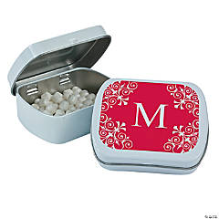 Personalized Red Monogram Mint Tins