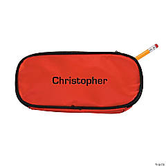 Personalized Red Pencil Case - Block Name