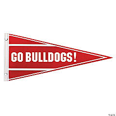 Personalized Red Pennant Banner