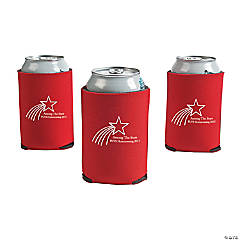 Personalized Red Shooting Star Can Coolers