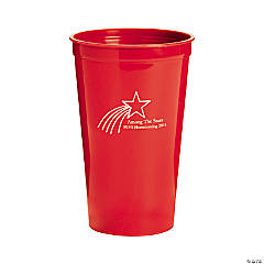 Personalized Red Shooting Star Tumblers