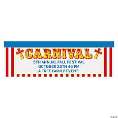 Personalized Religious Carnival Vinyl Banner - Medium