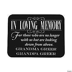 Personalized Reserve Seating Memorial Wedding Sign
