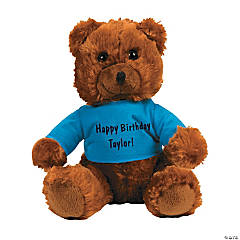 Personalized Ring Bearer Stuffed Bear with T-Shirt