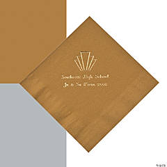 Personalized Roaring 20s Beverage or Luncheon Napkins