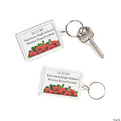 Personalized Rose Key Chains