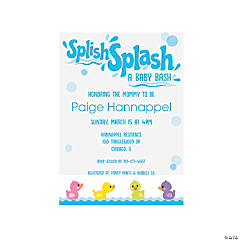 Personalized Rubber Ducky Baby Shower Invitations