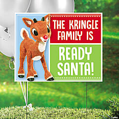Personalized Rudolph the Red-Nosed Reindeer<sup>&#174;</sup> Yard Sign