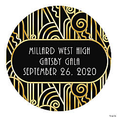 Personalized 20s Theme Favor Stickers