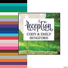 Personalized Script Wedding Reception Yard Sign