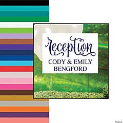 Personalized Script Wedding Reception Yard Sign