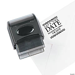Personalized Self-Inking Address Stamper - Chevron Save The Date