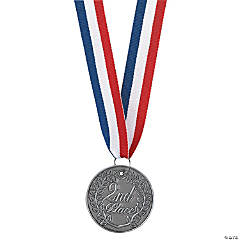 Personalized Silver 2nd Place Medallion