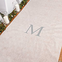 Personalized Silver Monogram Aisle Runner