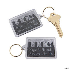 Personalized Silver Prom Keychains