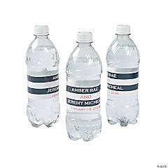 Personalized Simple Stripe Water Bottle Labels