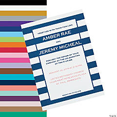 Personalized Simple Stripe Wedding Invitations