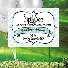 Personalized Sip & See Yard Sign