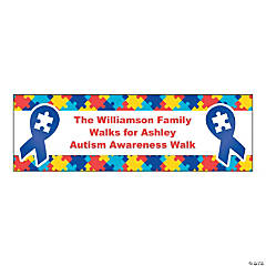 Personalized Small Autism Awareness Vinyl Banner