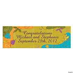 Personalized Small Autumn Leaves Vinyl Banner
