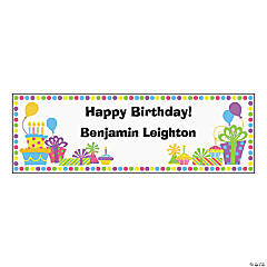 Personalized Small Birthday Celebration Vinyl Banner