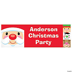Personalized Small Cheery Christmas Vinyl Banner