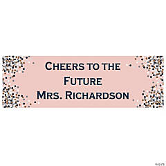 Personalized Small Confetti Design Vinyl Banner