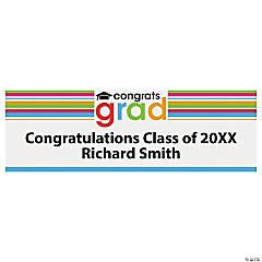 "Personalized Small ""Congrats Grad"" Vinyl Banner"