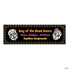 Personalized Small Day of the Dead Vinyl Banner