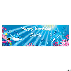 Personalized Small Dolphin Vinyl Banner
