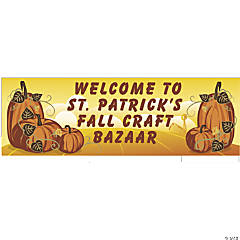 Personalized Small Fall Vinyl Banner