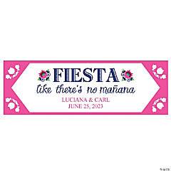 Personalized Small Fiesta Wedding Shower Vinyl Banner
