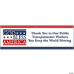 Personalized Small God Bless America Vinyl Banner