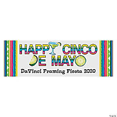 Personalized Small Happy Cinco De Mayo Vinyl Banner