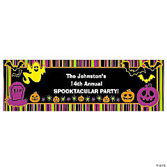 Personalized Small Iconic Halloween Vinyl Banner