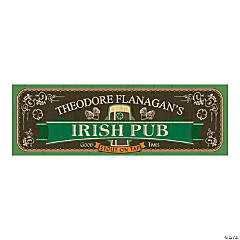 Personalized Small Irish Pub Vinyl Banner