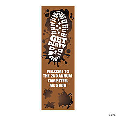 Personalized Small Mud Run Vertical Vinyl Banner