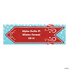 Personalized Small North Pole Vinyl Banner