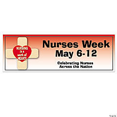 Personalized Small Nurses Week Banner