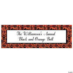 Personalized Small Orange & Black Halloween Banner