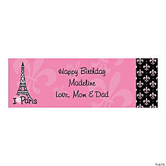 Personalized Small Perfectly Paris Vinyl Banner